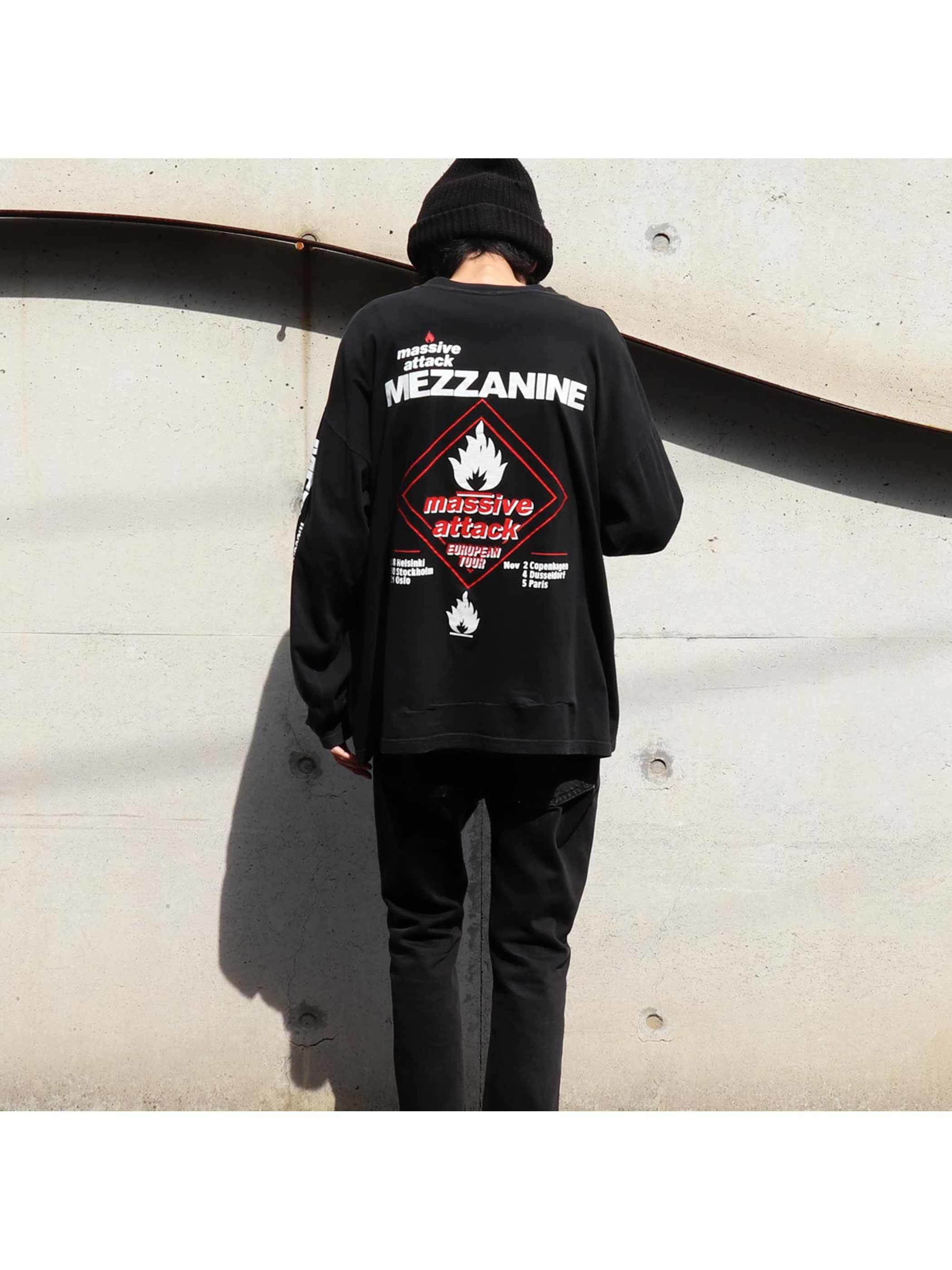 "90's MASSIVE ATTACK ""MEZZANINE / EUROPEAN TOUR 1998"" ロングスリーブTシャツ [XL]"