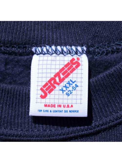 80's JERZEES USA製 ネイビー 無地スウェット [XXXL]