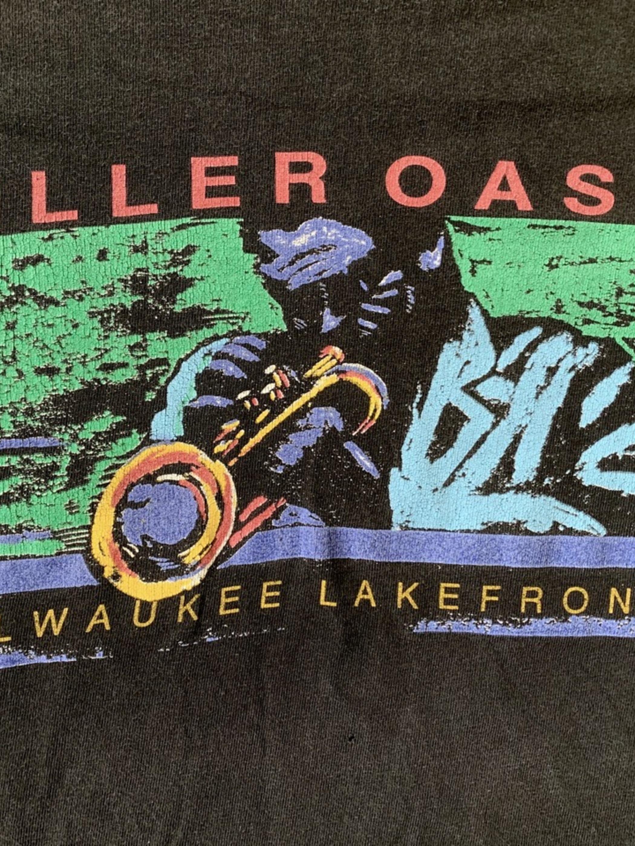 Vintage Miller Oasis jazz festival print t-shirt made in USA