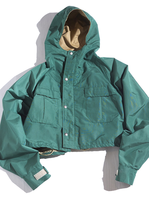 "1970s ""SIERRA DESIGNS"" short length mountain parka -GREEN-"