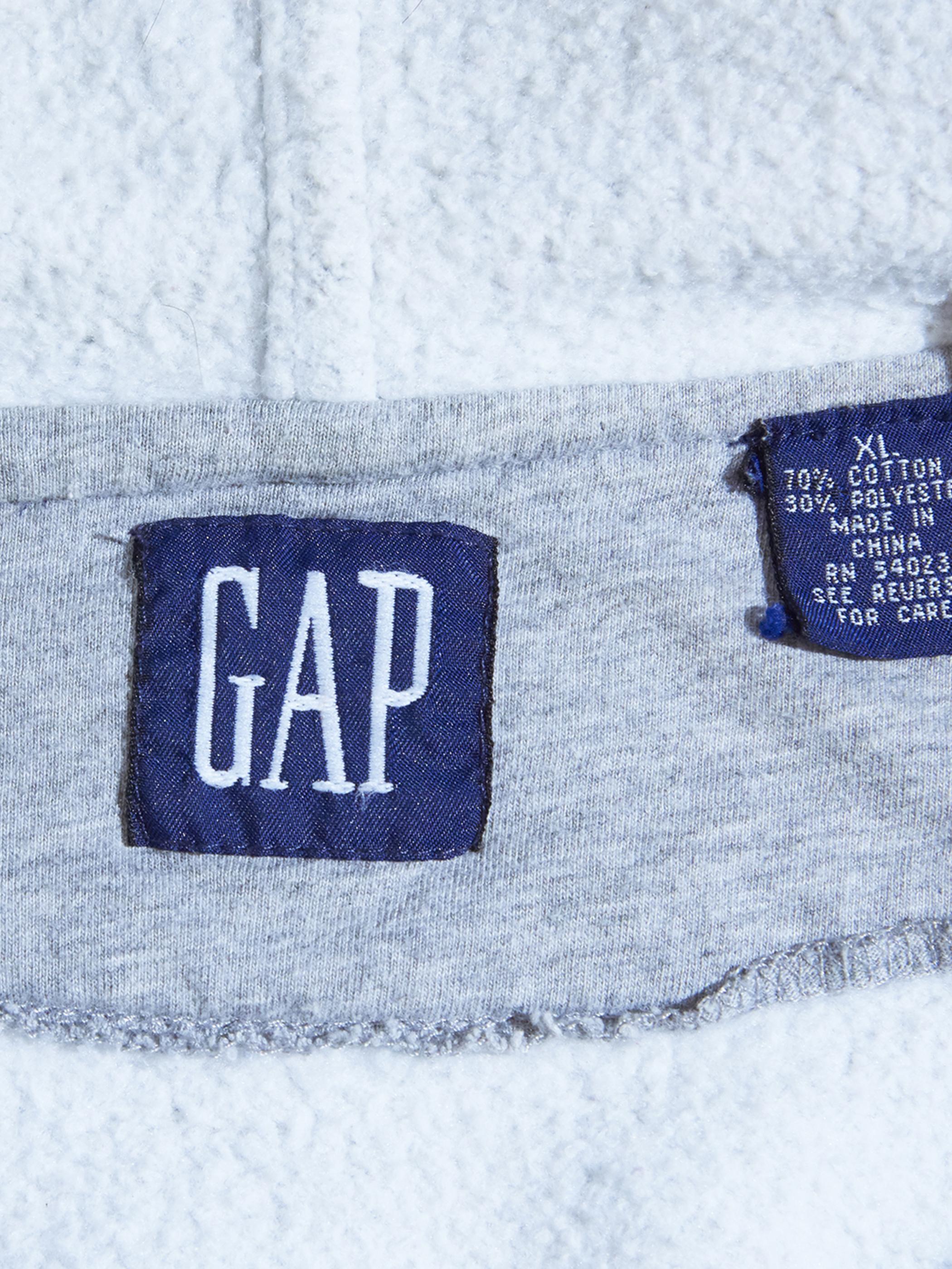 """1990s """"GAP"""" sweat zip up vest -GREY-"""