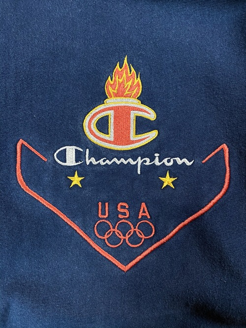 90's champion olympic reverse weave sweat