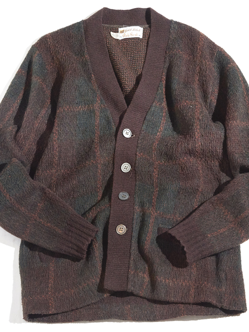 """1960s """"Rob Scot"""" mohair knit cardigan -BROWN- <SALE¥24000→¥19200>"""