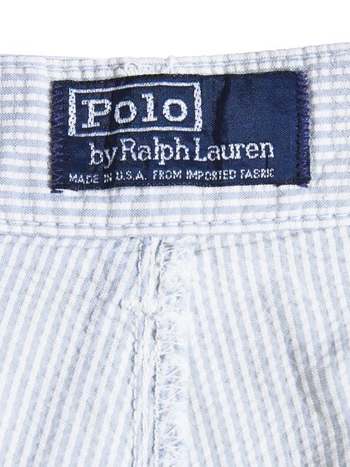 "1980s ""POLO by Ralph Lauren"" seersucker shorts -SAX-"