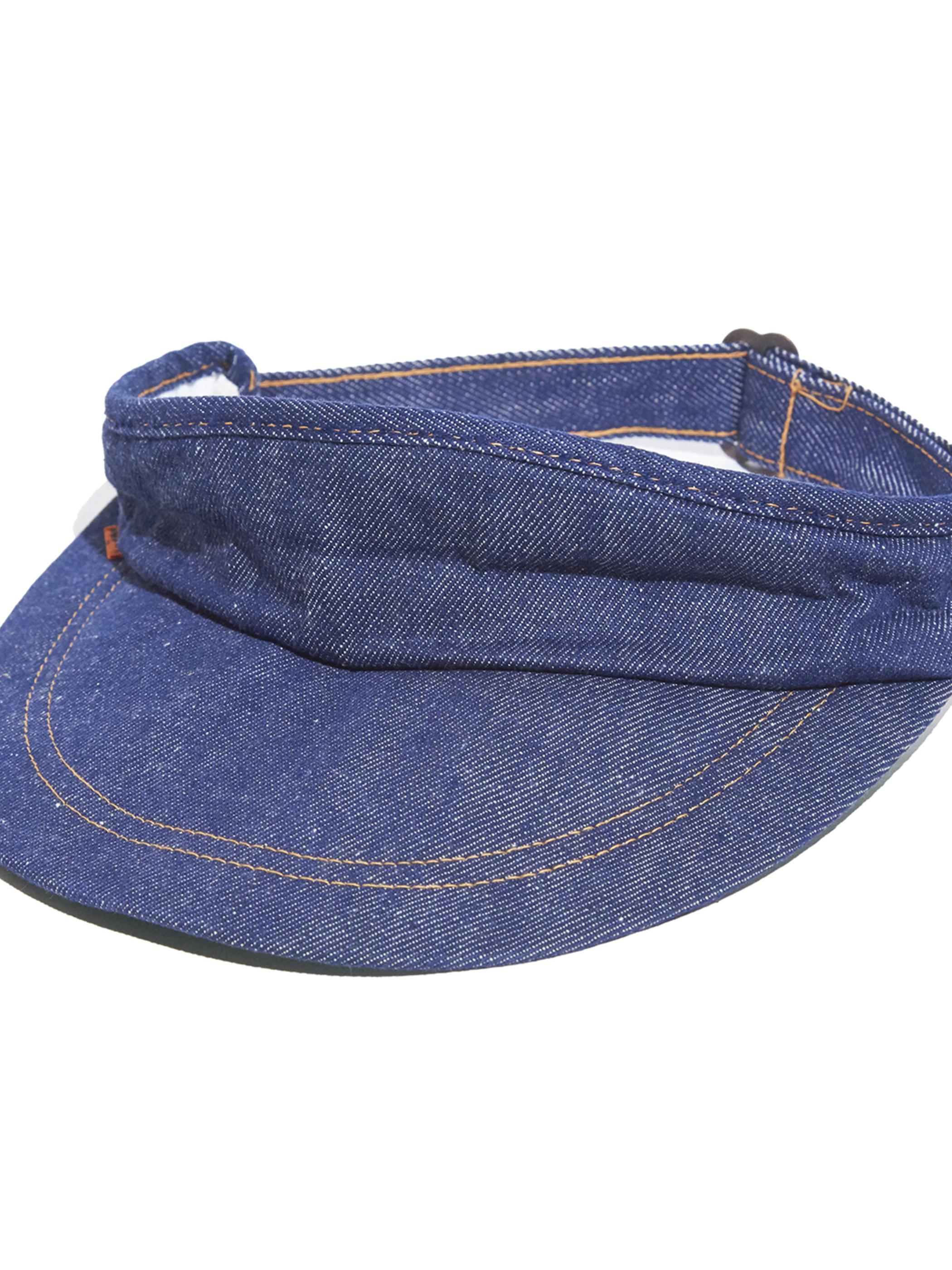 "1970s ""Levi's"" denim sun visor -INDIGO-"