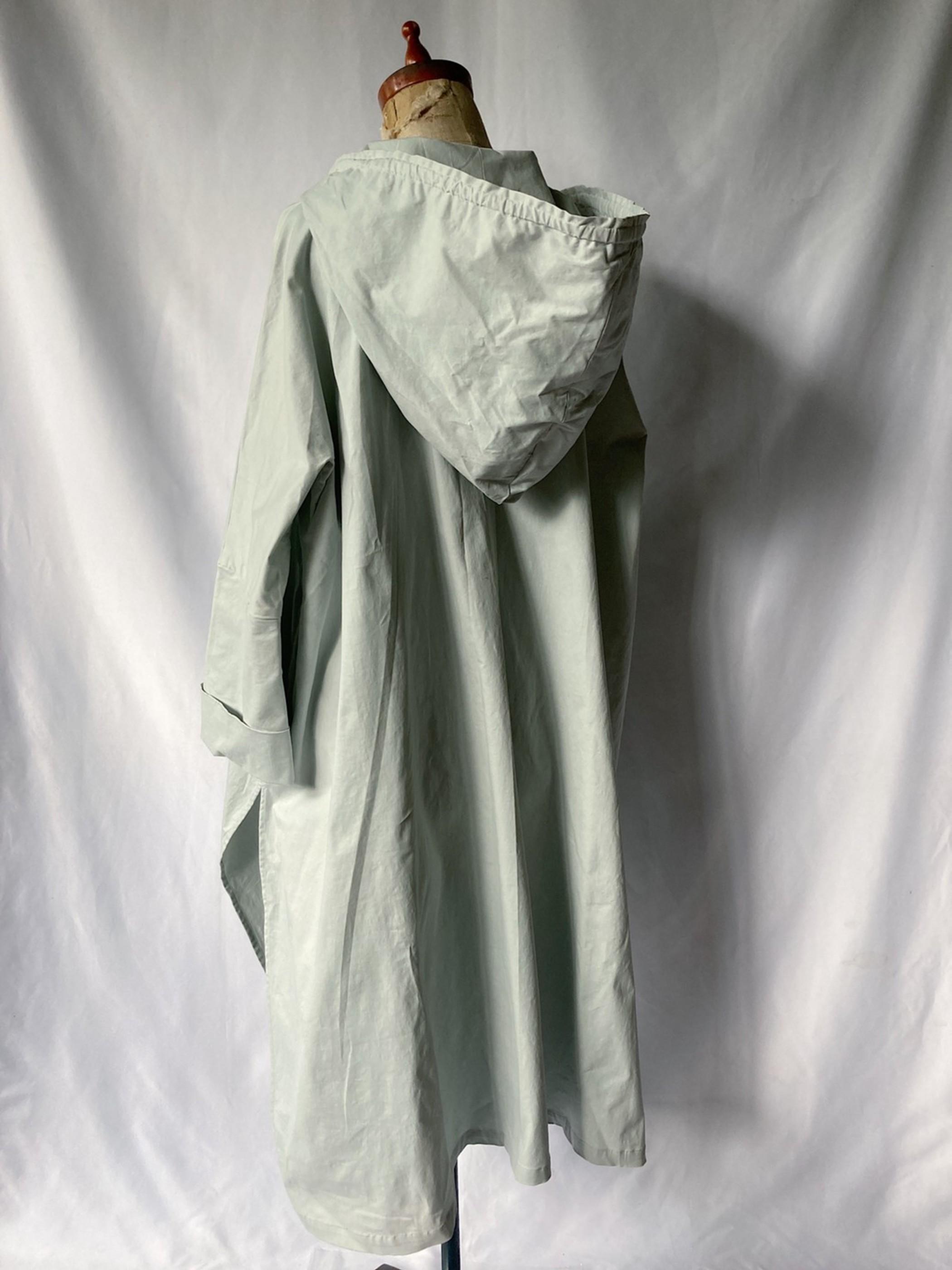 hooded poncho coat