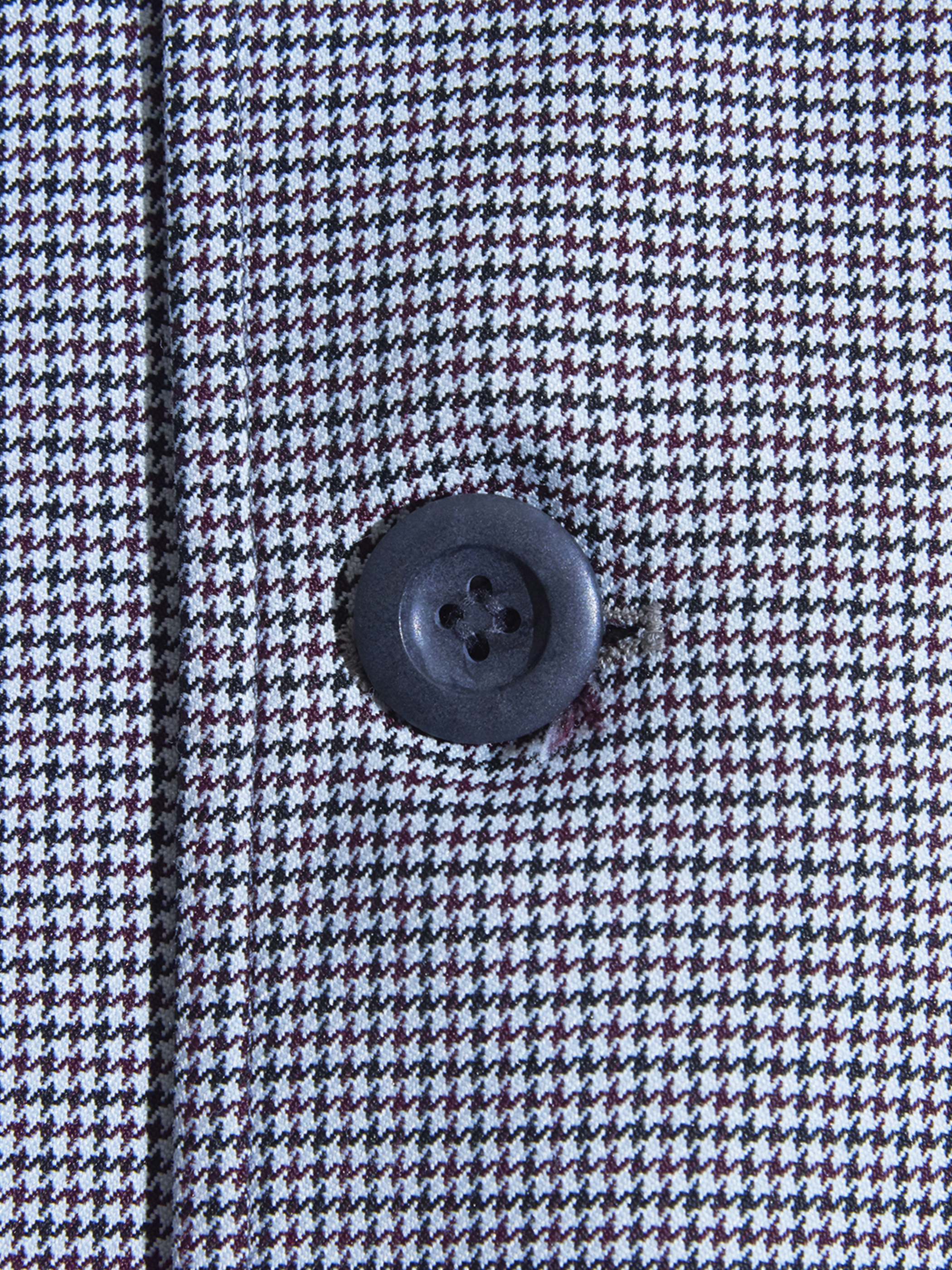 """1970s """"LONDON FOG"""" hound tooth check coat -GREY-"""