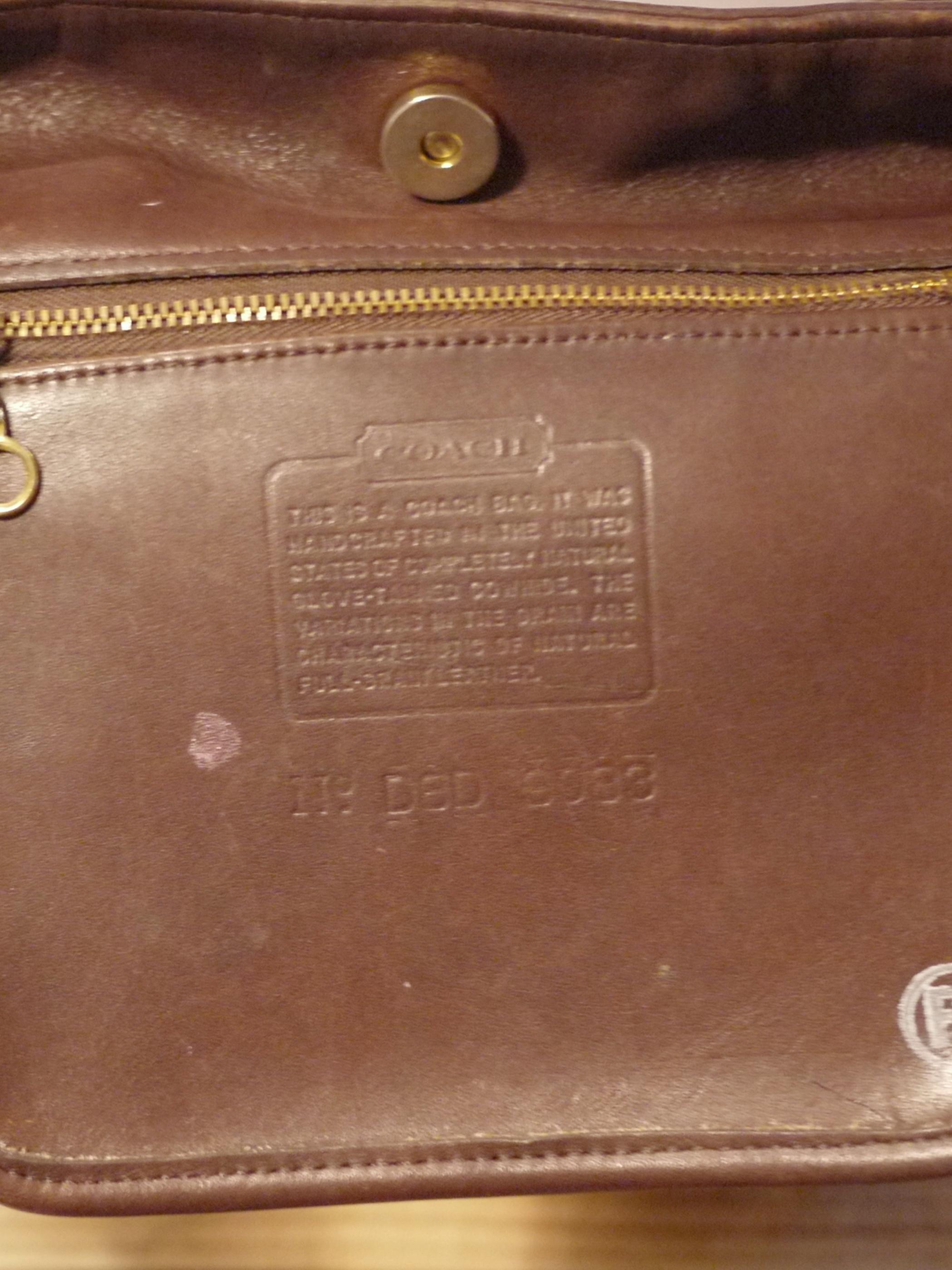 Old COACH Leather One shoulder Bag