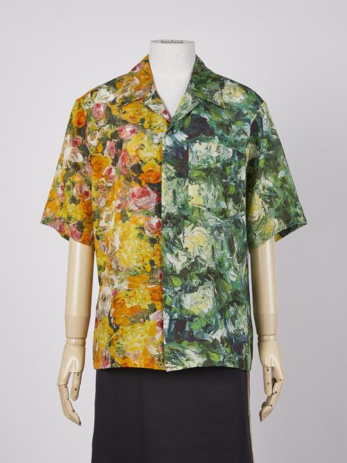 flowers & flower pattern shirt・ROSE×PEONY