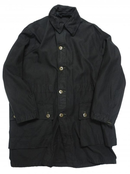 1970's SWEDISH MILITARY M-59 FIELD JACKET BLACK OVER DYE