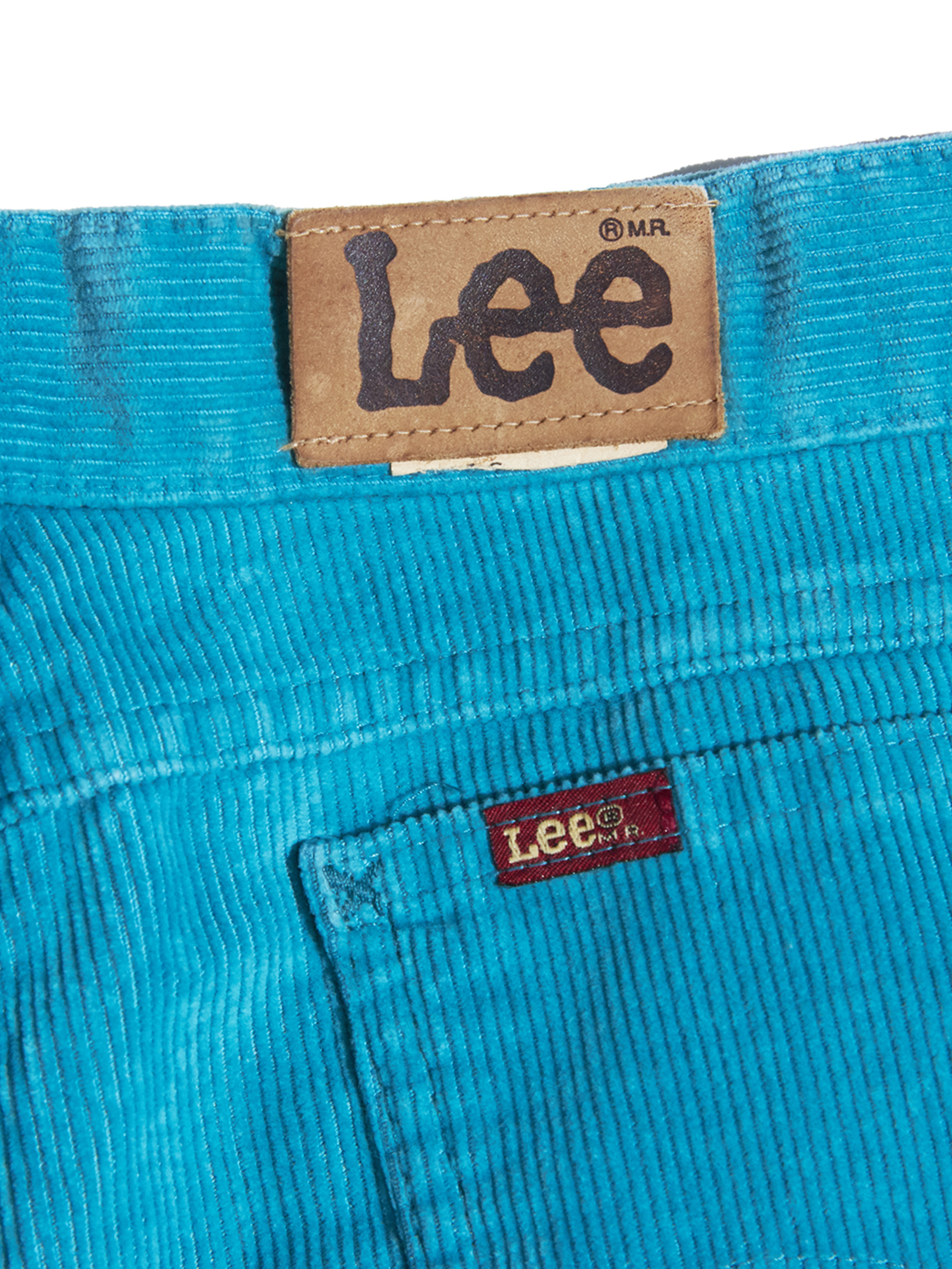 "1980s ""Lee"" tapered corduroy pants -TURQUISE-"