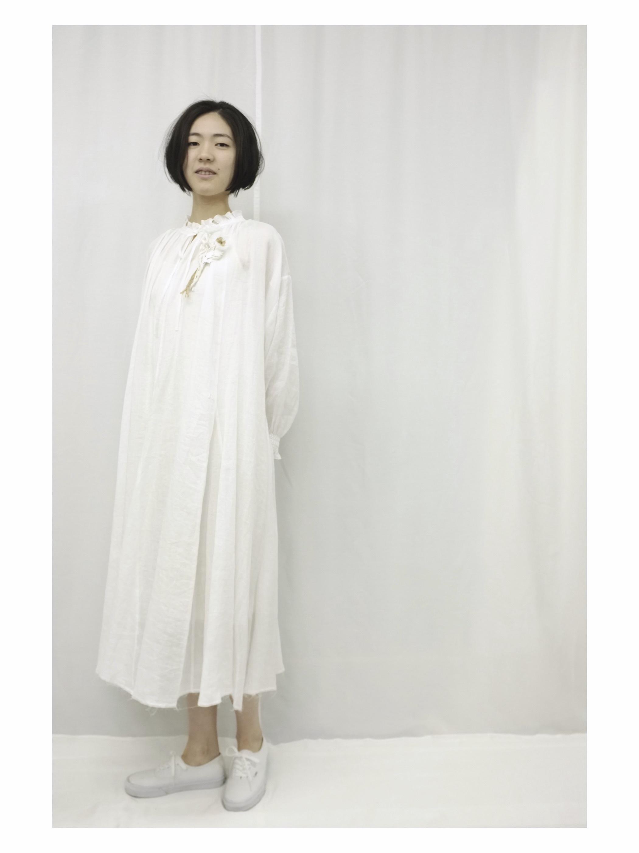 smocking  DRESS - col.off white