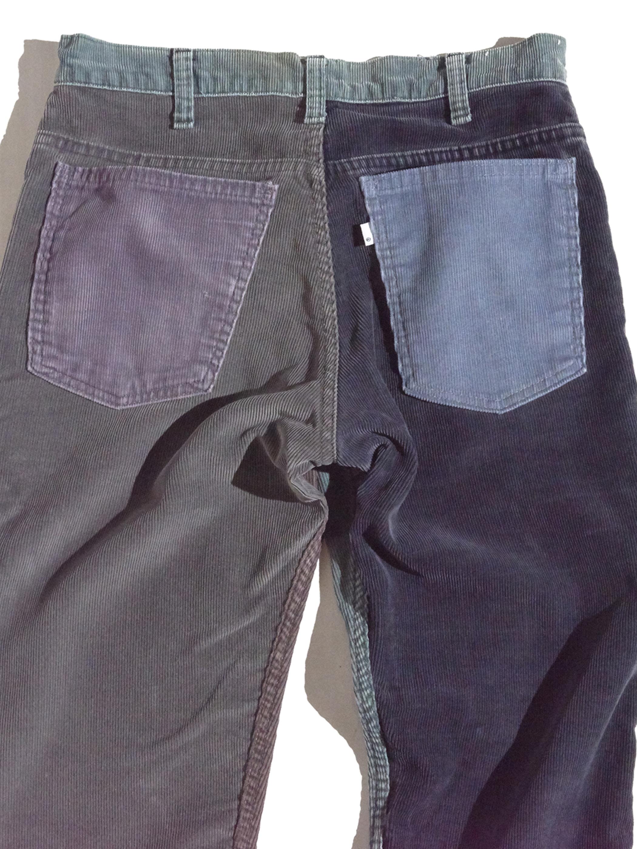 "1980s ""Levi's"" custom mede crazy pettern 519 corduroy pants #4"