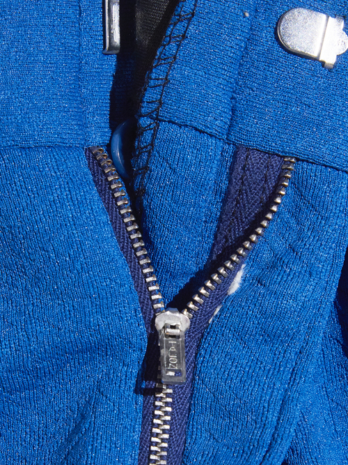 "1970s ""BEAU REGS"" poly jacquard slacks -BLUE-"
