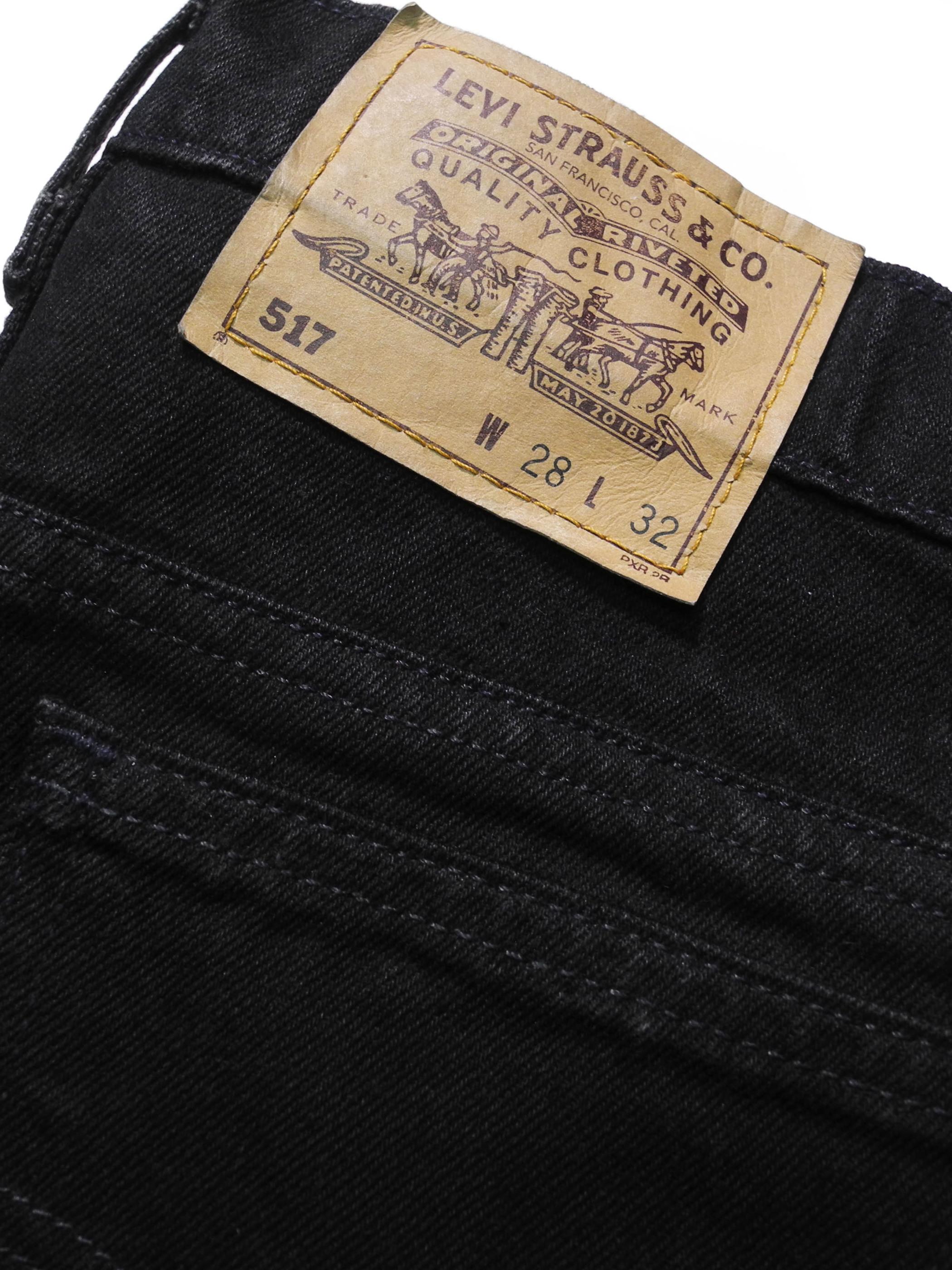 DEADSTOCK LEVI'S 517 DENIM PANTS made in USA BLACK