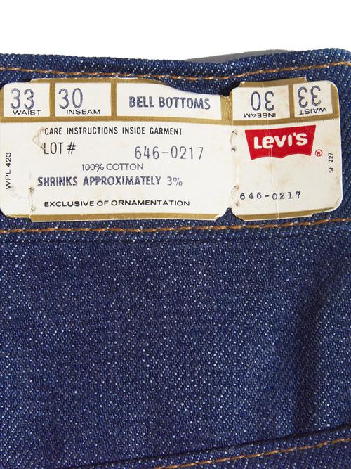 "NOS 1980s ""Levi's"" Lot.646 denim pants -INDIGO-"