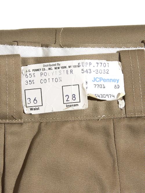 "NOS 1970s ""BIG MAC"" twill work pants -KHAKI-"