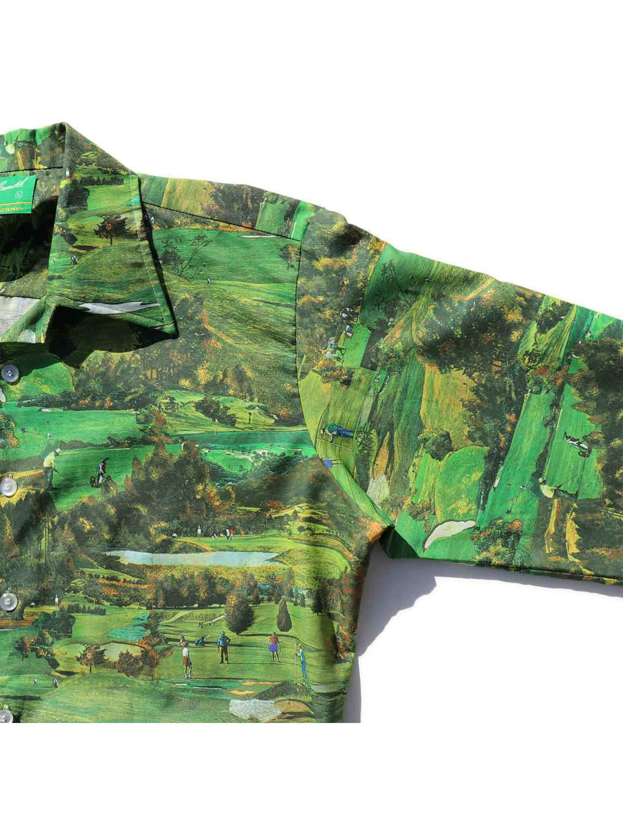 70's JOE NAMATH BY ARROW ゴルフ柄 転写プリントシャツ [L]