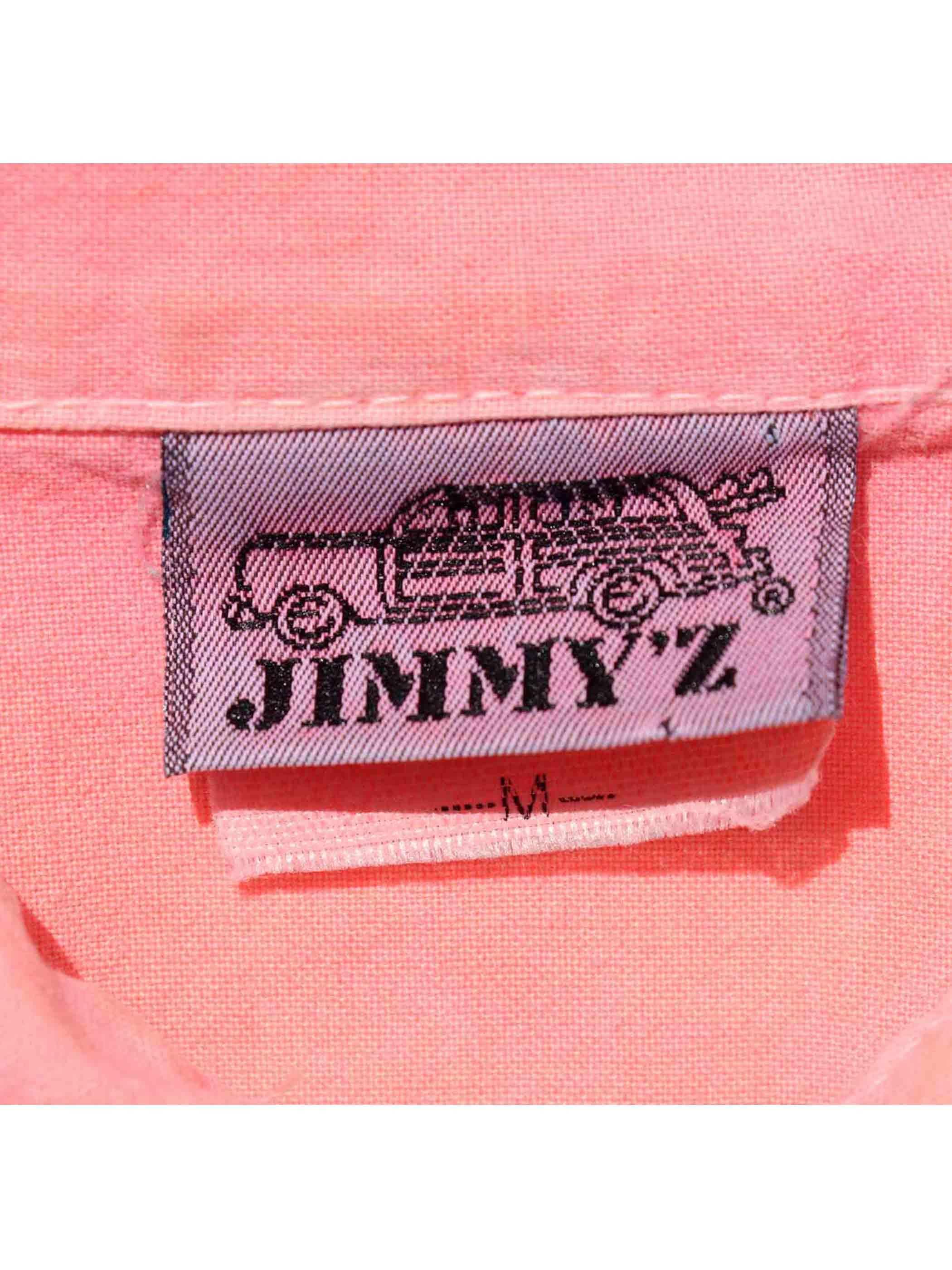 80-90's JIMMY'Z グラデーションプリント S/Sシャツ [M]