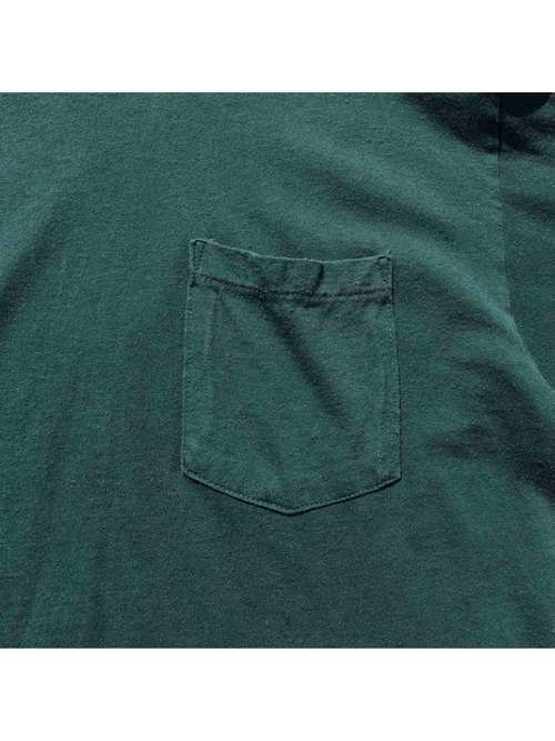 80's L.L.BEAN Two Tone L/S Pocket T-Shirt Made In U.S.A. [XL]