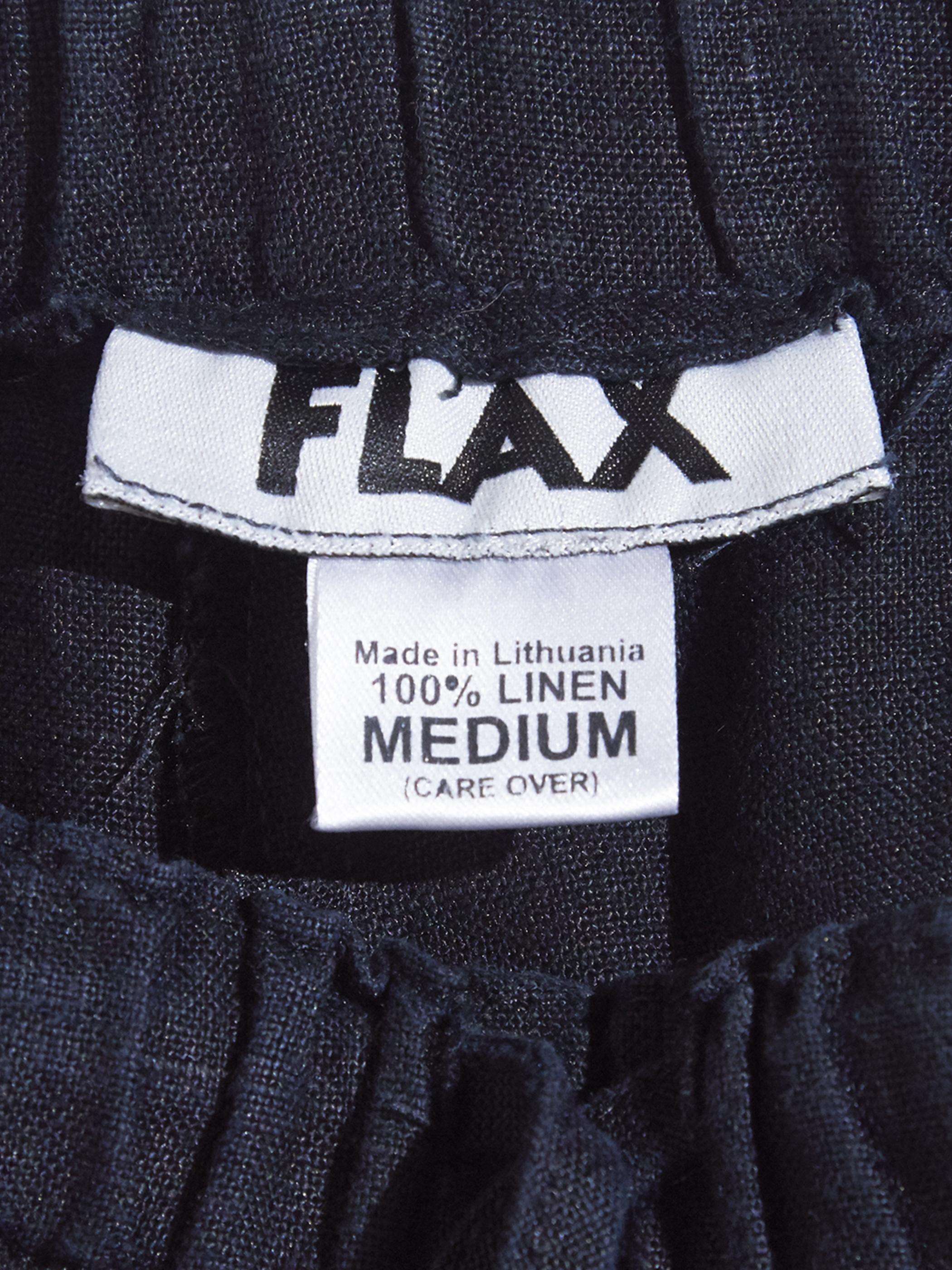 "1990s ""FLAX"" linen easy pants -BLACK-"