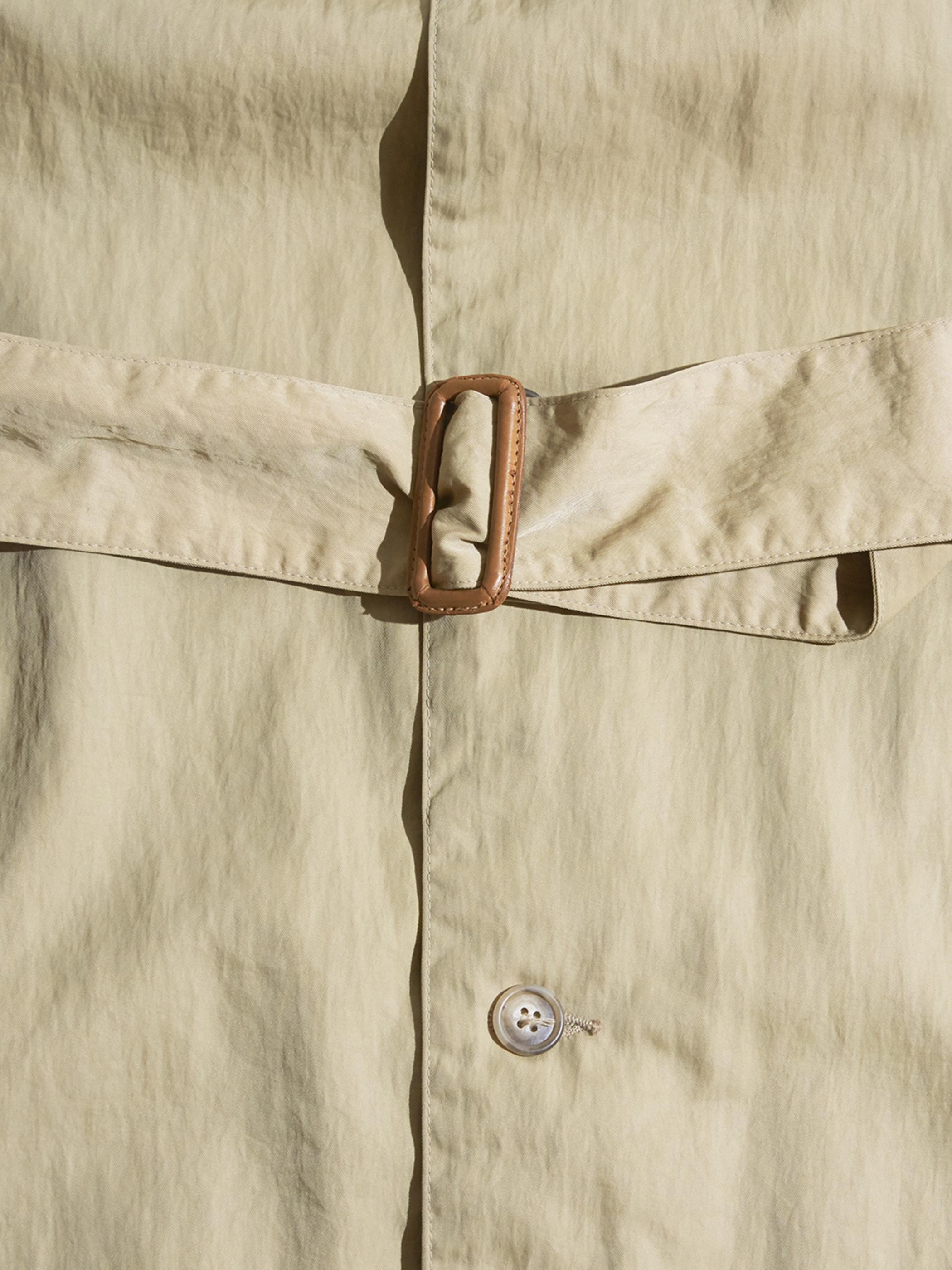"1980s ""BANANA REPUBLIC"" nylon trench coat -BEIGE-"