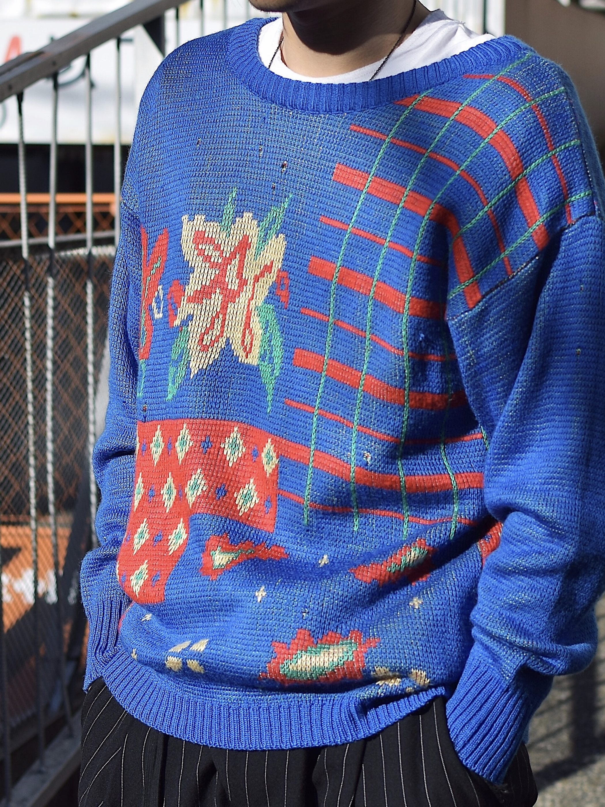 Vintage【Hewlett】Damage Knit