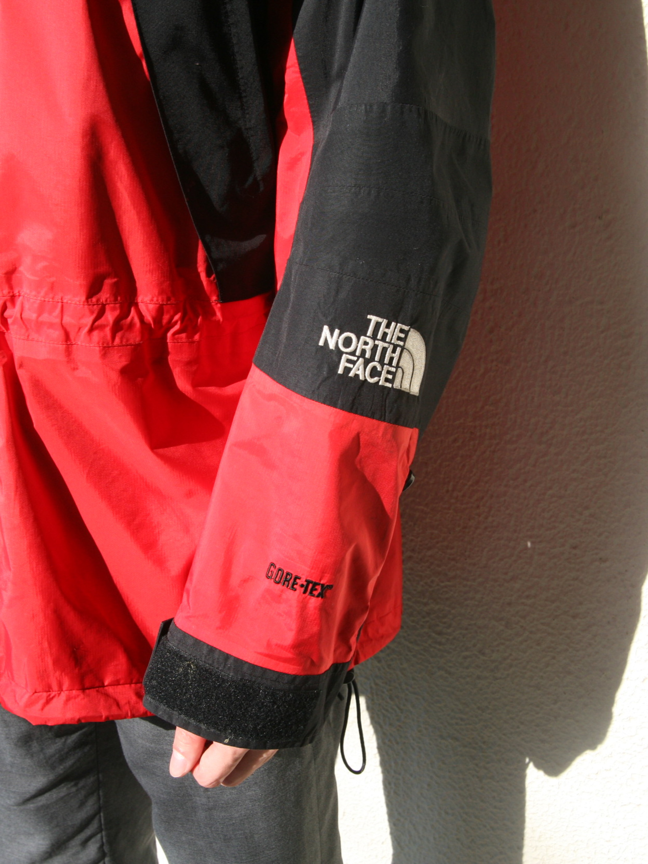 """1990s """"THE NORTH FACE"""" mountain light jacket -RED-"""