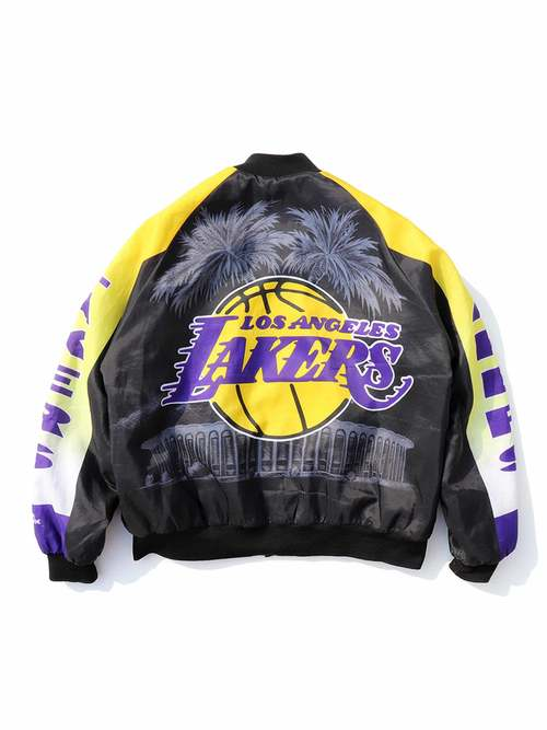 "90's CHALK LINE ""LOS ANGELES LAKERS"" USA製 スタジャン [XL]"