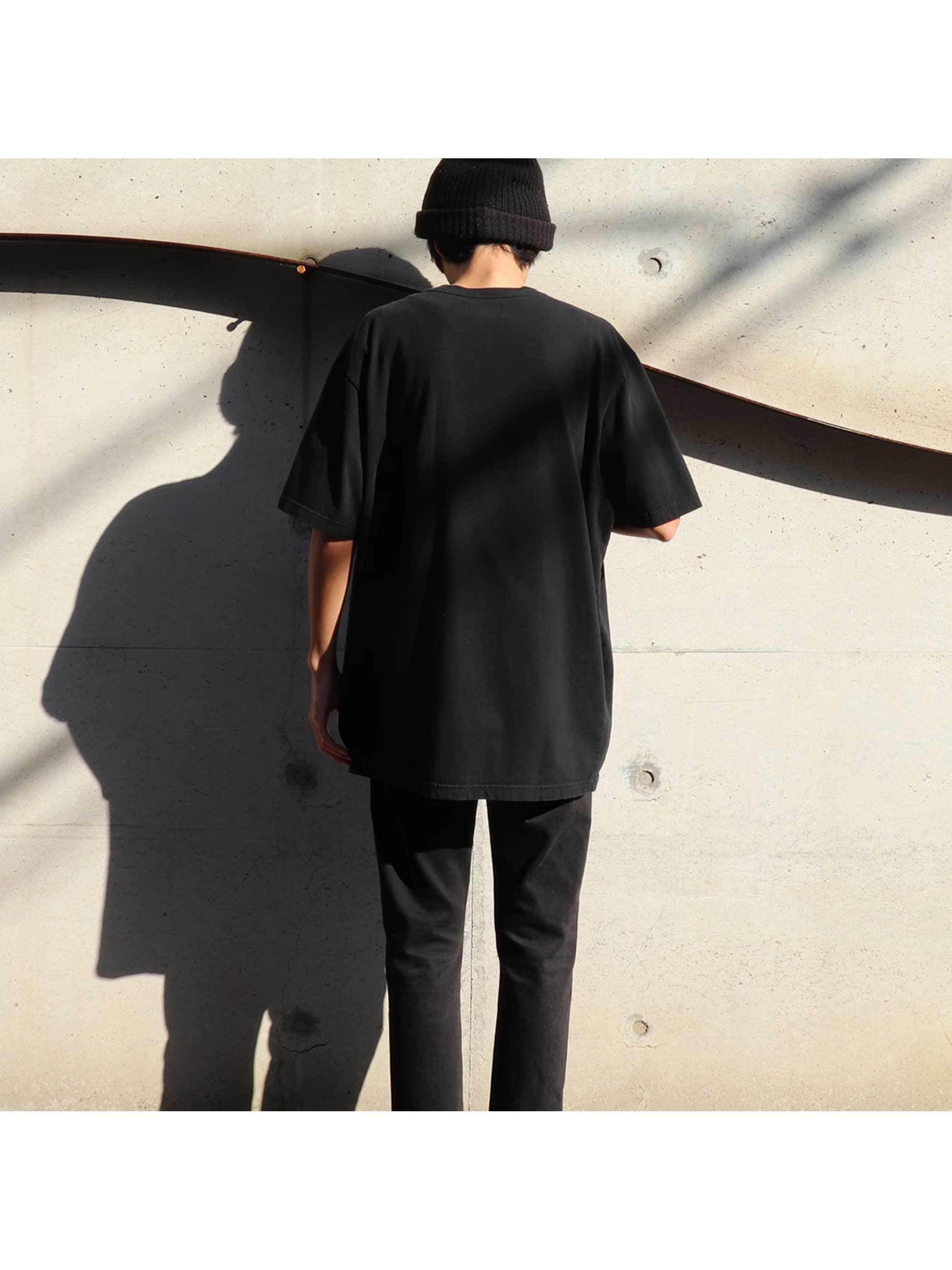 90's EDDIE BAUER USA製 ブラック 無地Tシャツ [XL]