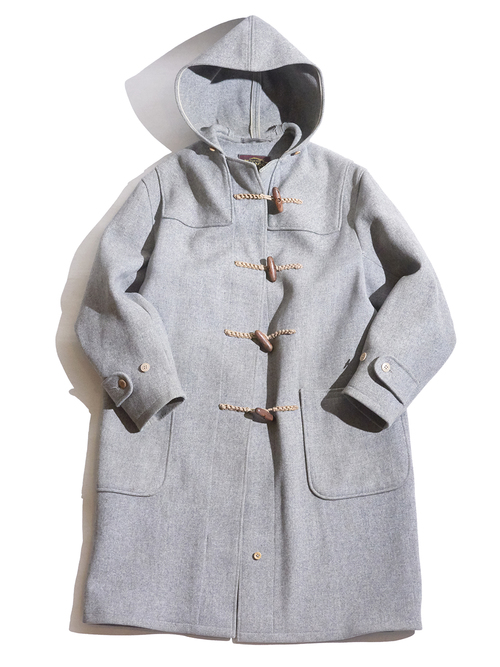 "1960s ""Laoage & Oelke"" wool duffle coat -GREY-"