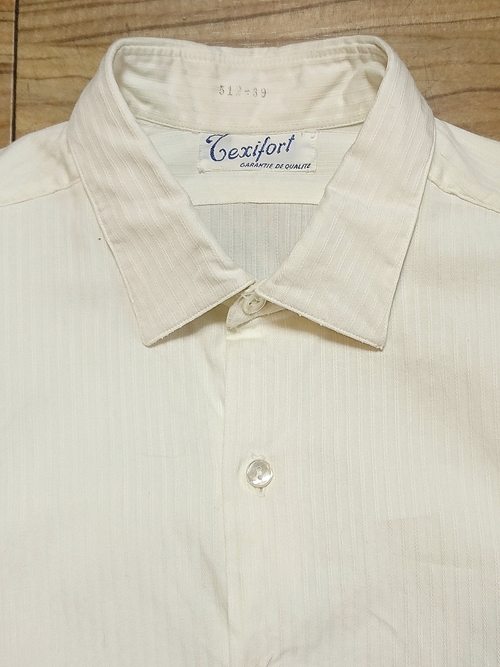 FRENCH / Pull over white cotton dress shirt