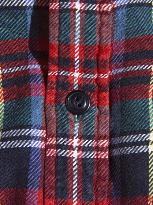 "1990s ""POLO SPORT"" flannel check shirt -RED-"