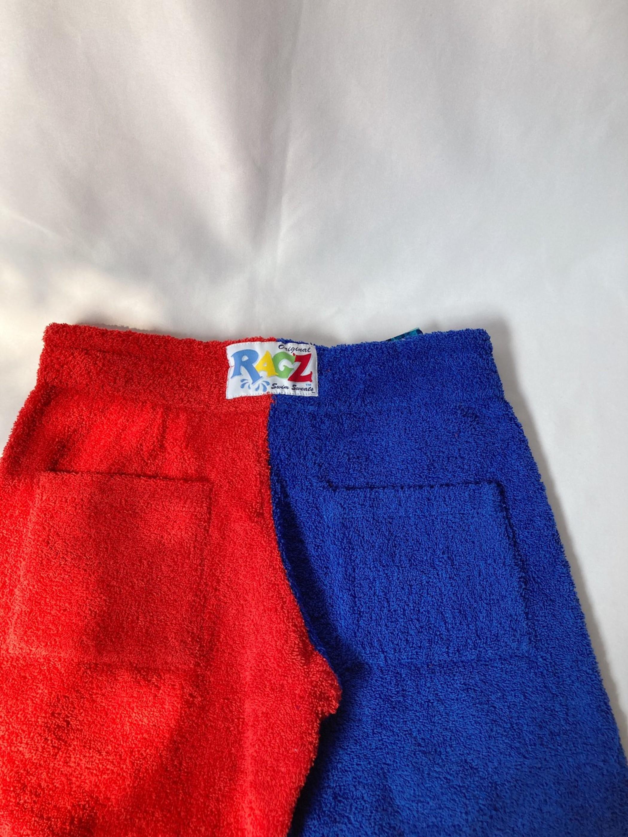 two tone color pile pants