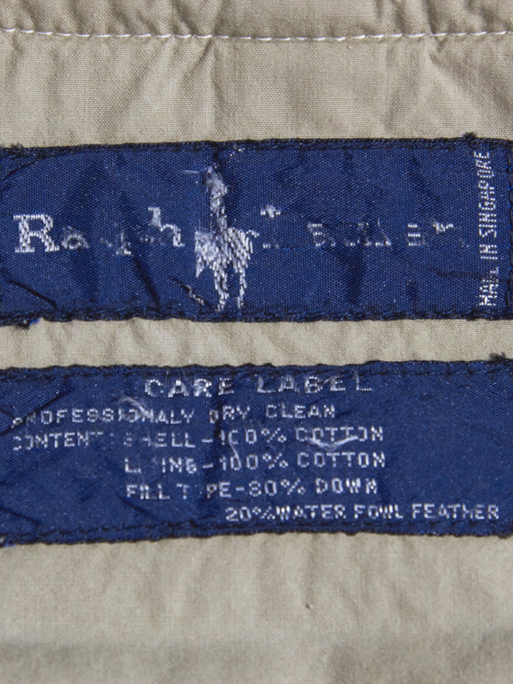 """1980s """"Ralph Lauren"""" huntting down vest -IVORY-"""