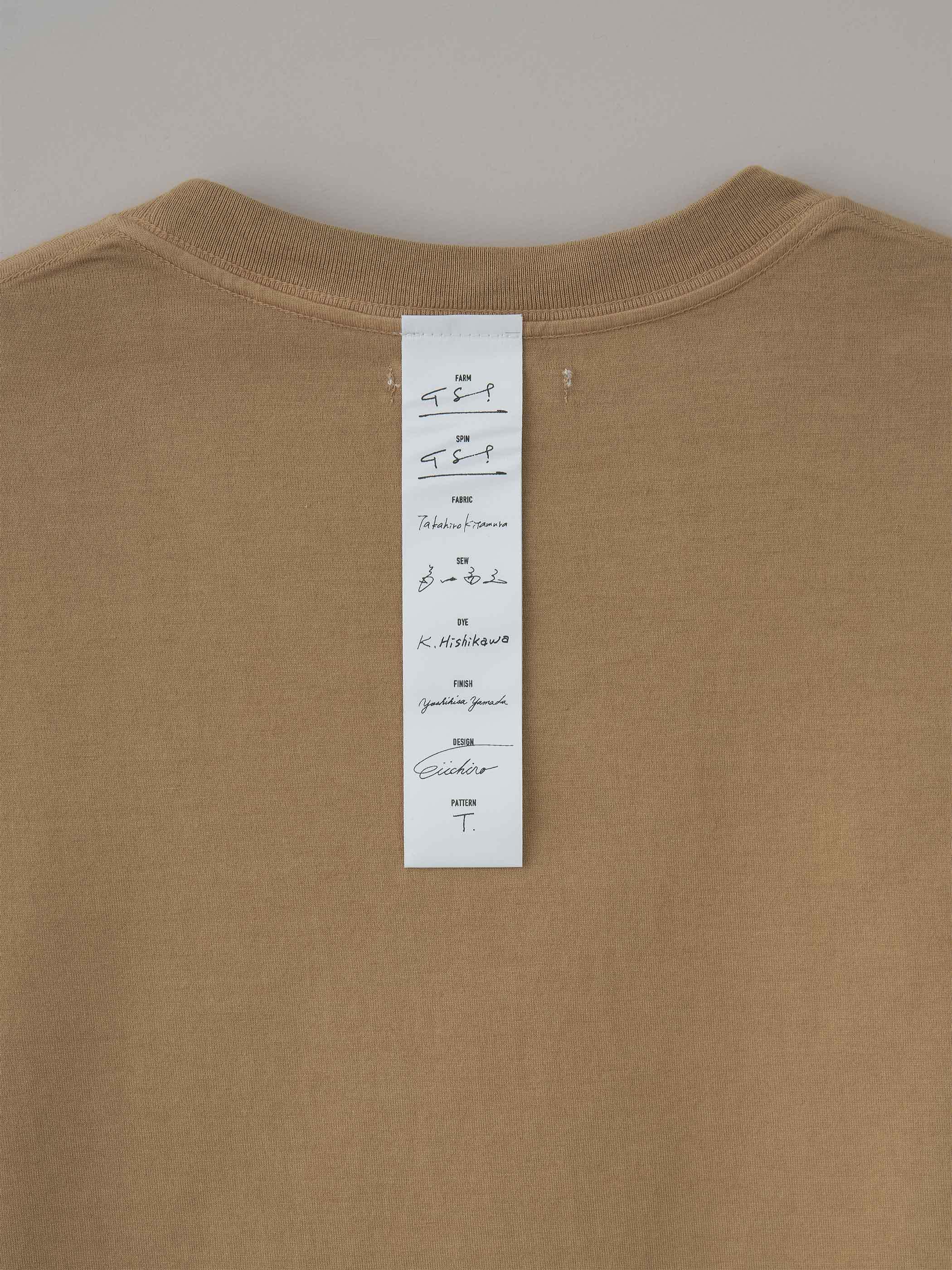 丸胴ロングスリーブTシャツ #10ジンジャー(ベージュ)