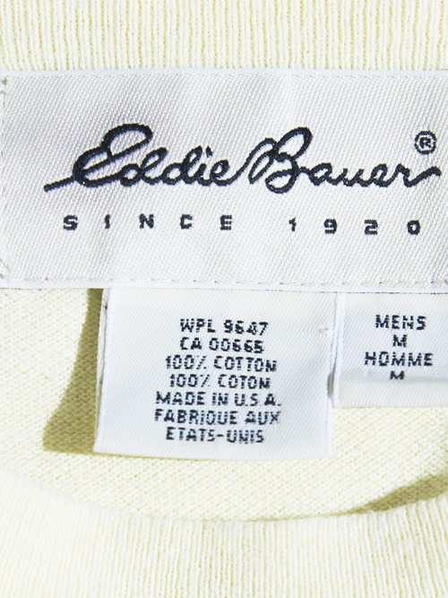 "1990s ""Eddie Bauer"" kanoko pocket tee -YELLOW-"