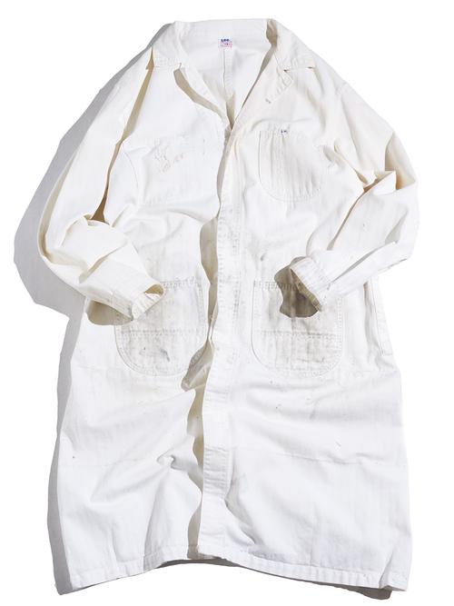 "1960s ""Lee"" work coat -WHITE-"