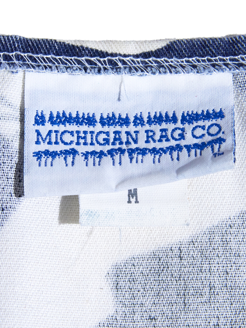 "1990s ""MICIGAN RAG"" 2piece setup -BIRD PATTERN-"