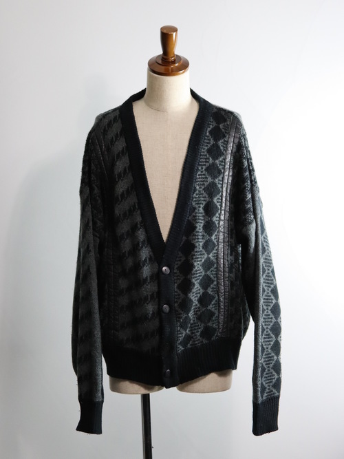 1980's City Streets Leather Switching Drop Cardigan