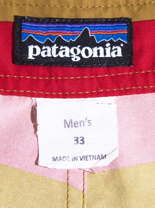 "2000s ""patagonia"" border shorts -BROWN-"