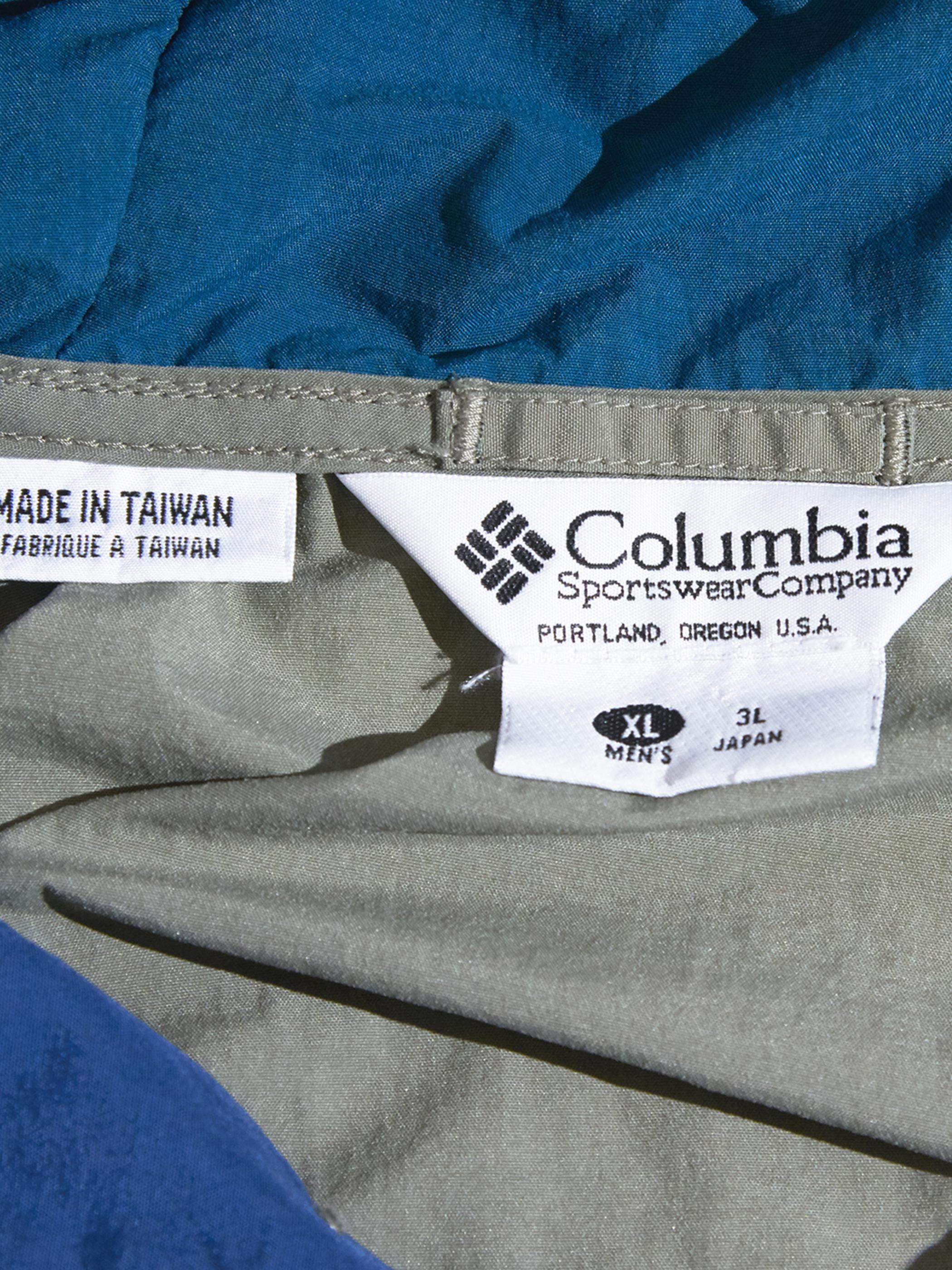"""1990s """"Columbia"""" nylon anorak parka -KHAKI-"""