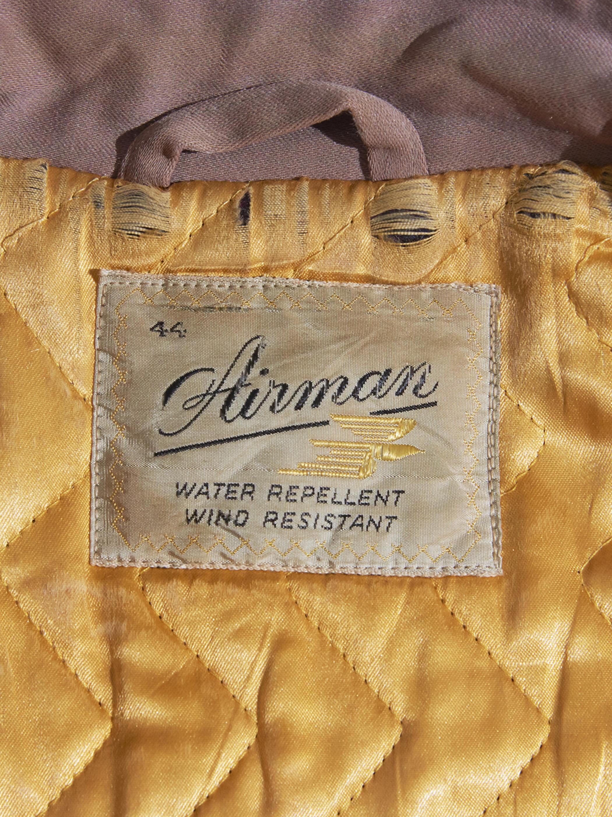 "1950s ""Airman"" rayon gabardine jacket -FADE PINK-"