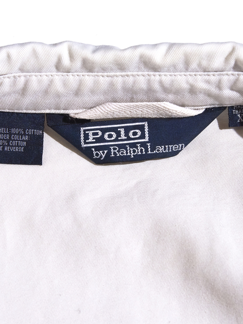 """1990s """"POLO by Ralph Lauren"""" cotton drizzler jacket -WHITE-"""