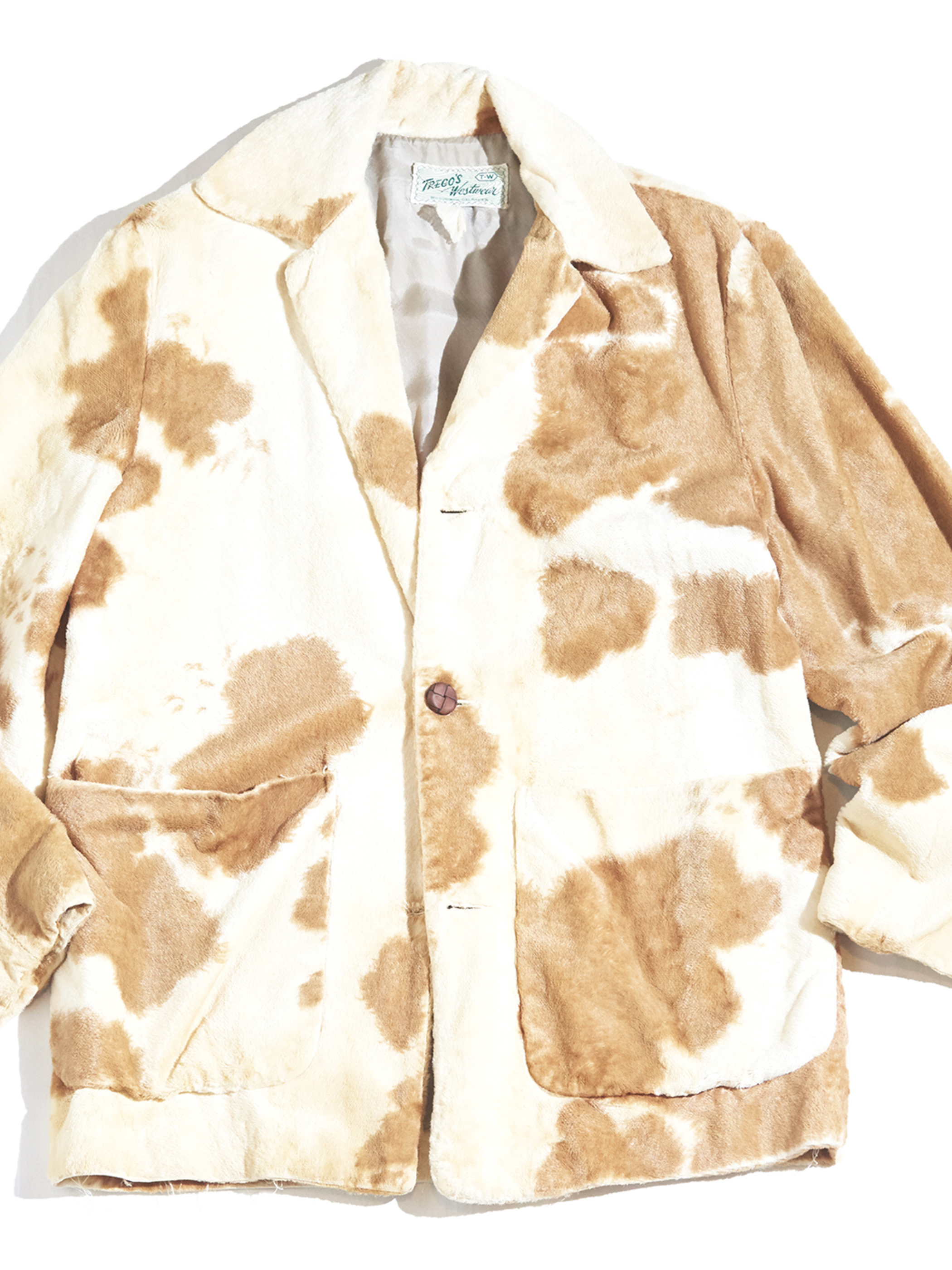 "1950s ""TRECO'S Westren"" faux fur animal pettern tailored jacket -ANIMAL- <SALE¥38000→¥30400>"