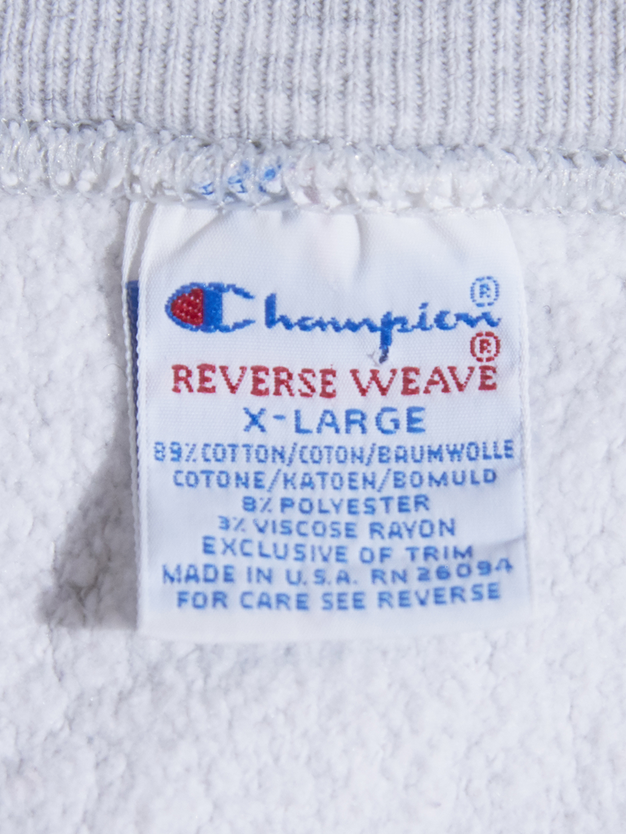"1990s ""Champion"" R/W sweat -OATMEAL-"