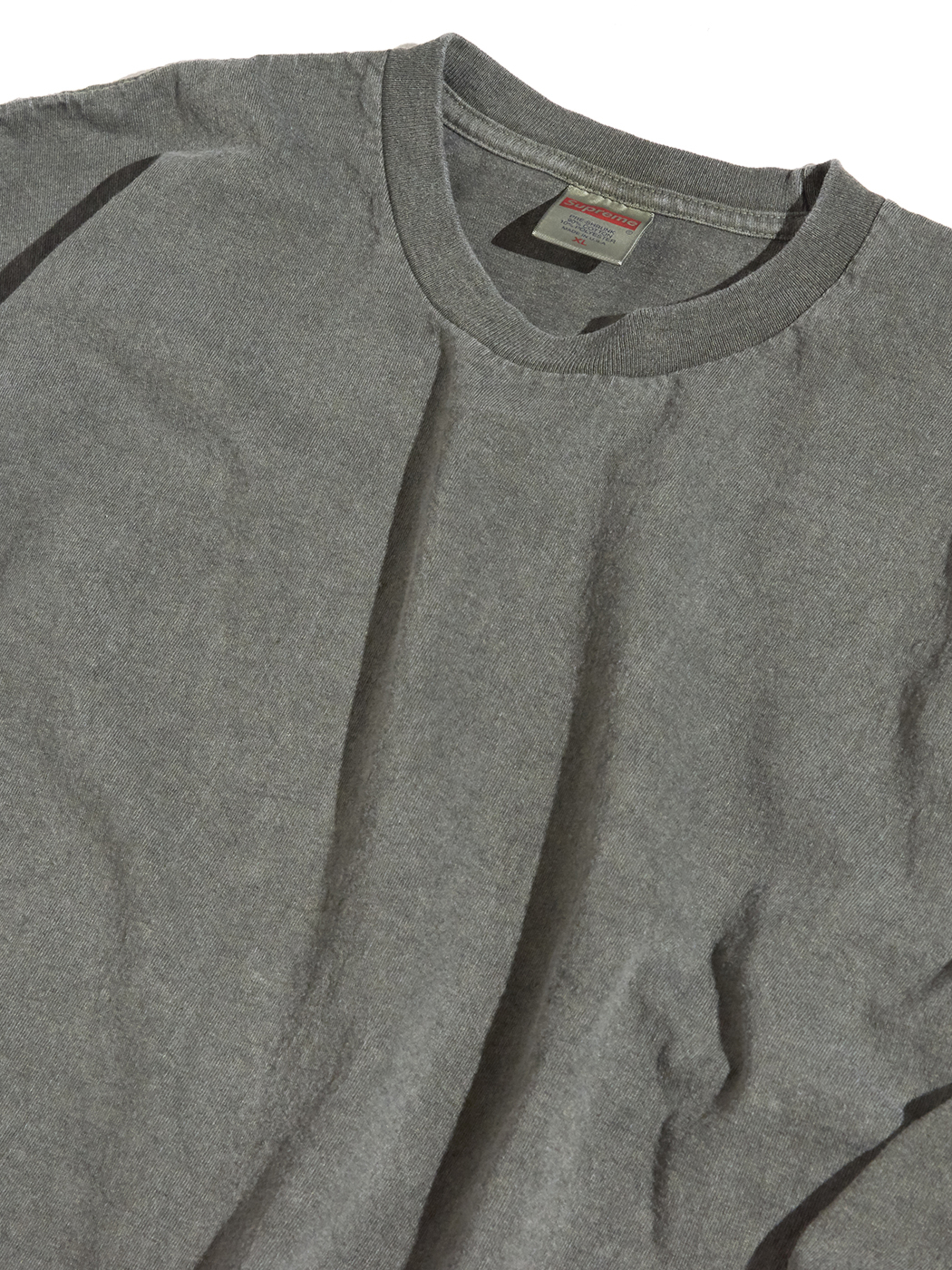"""2000s """"SUPREME"""" L/S blank tee -PIGMENT DYED OLIVE-"""