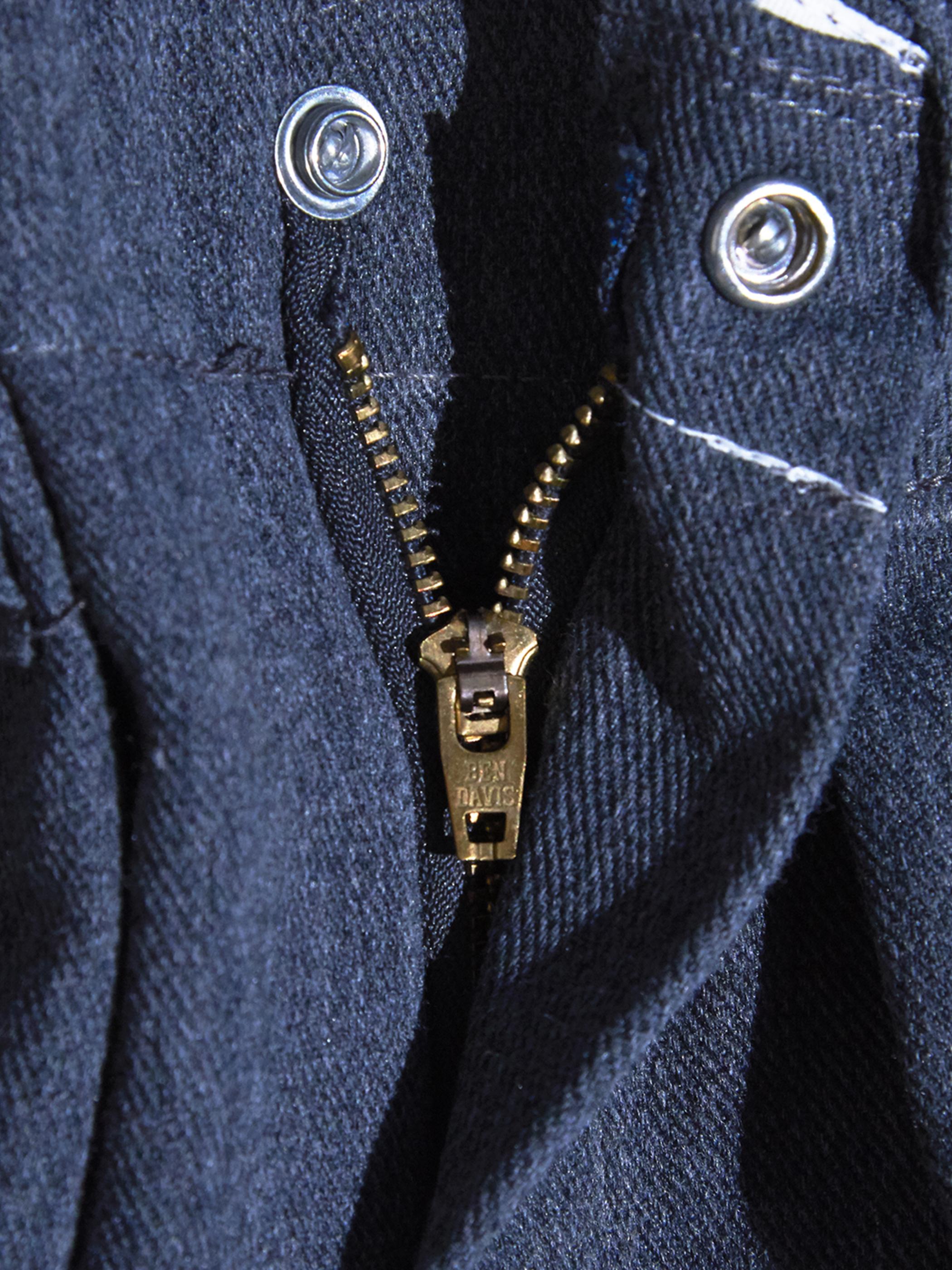 """1990s """"BEN DAVIS"""" custom tuck work pants -LIGHT GREY-"""