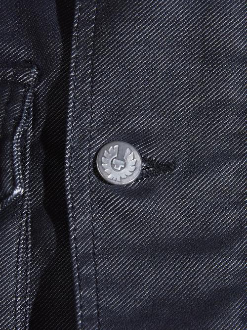 "2000s ""Belstaff"" coating denim motor cycle jacket -GREY-"