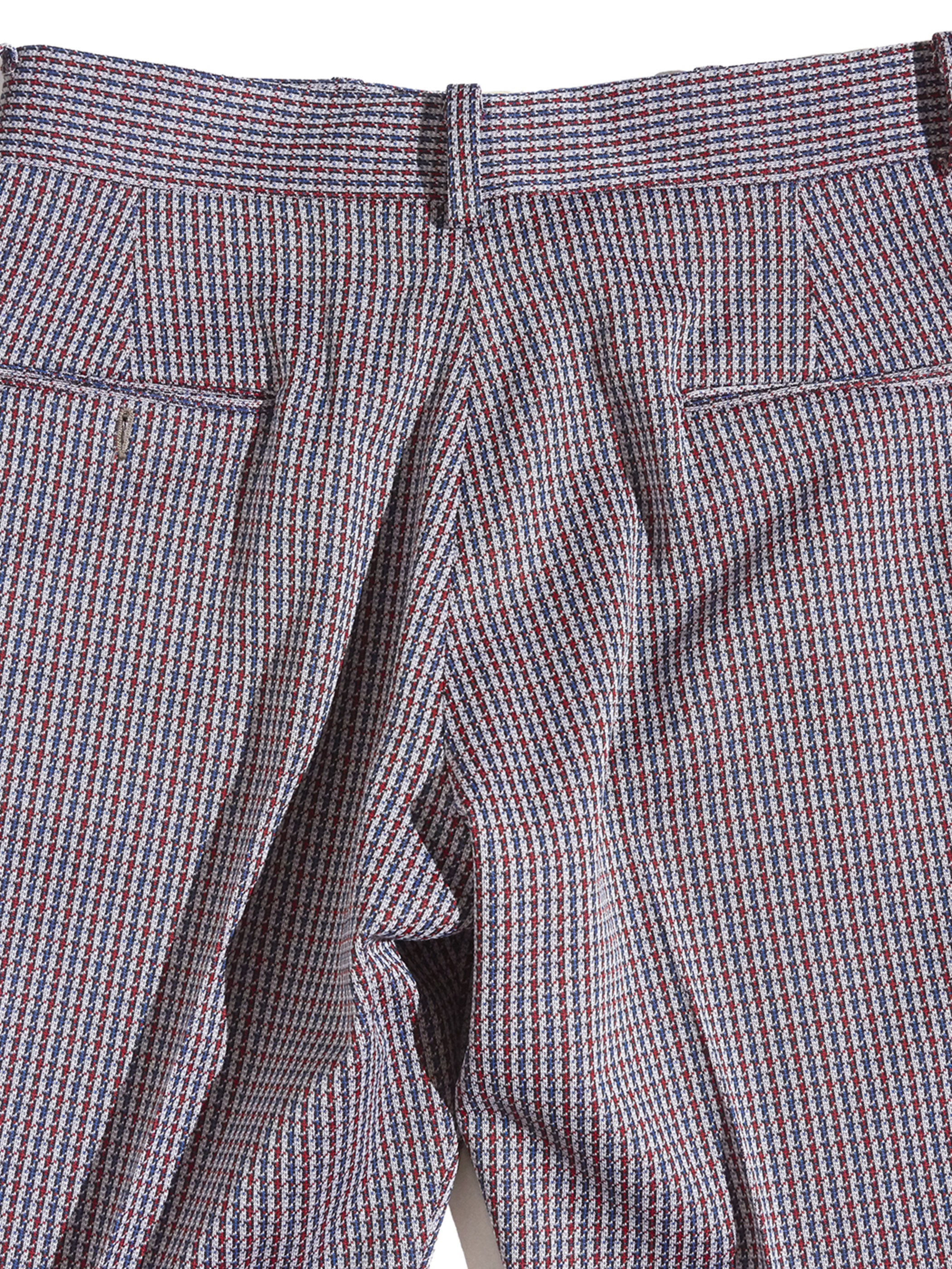 """1970s """"unknown"""" polyester flare slacks -HOUNDTOOTH-"""